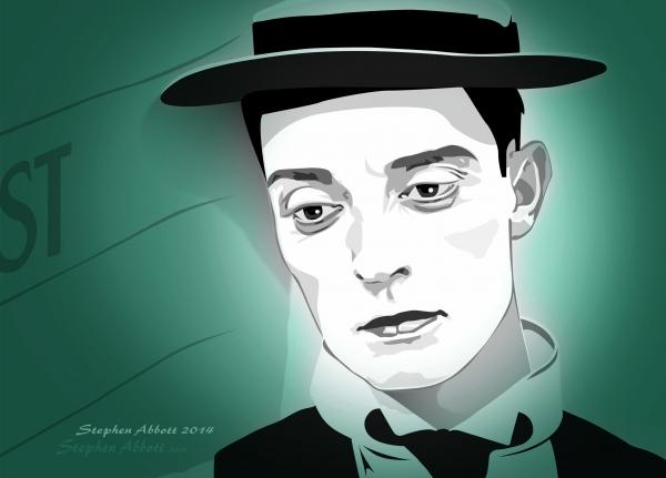 Buster Keaton par Henstepbatbot